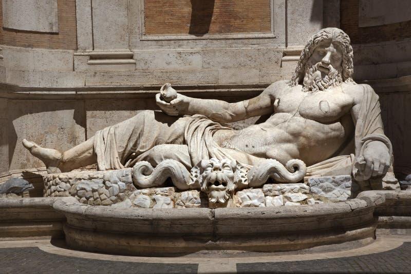 antycznego capitoline muzealna Neptune Rome statua obraz royalty free