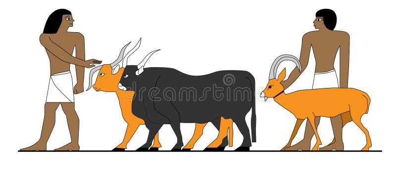 Antycznego Egipt rolnicy royalty ilustracja