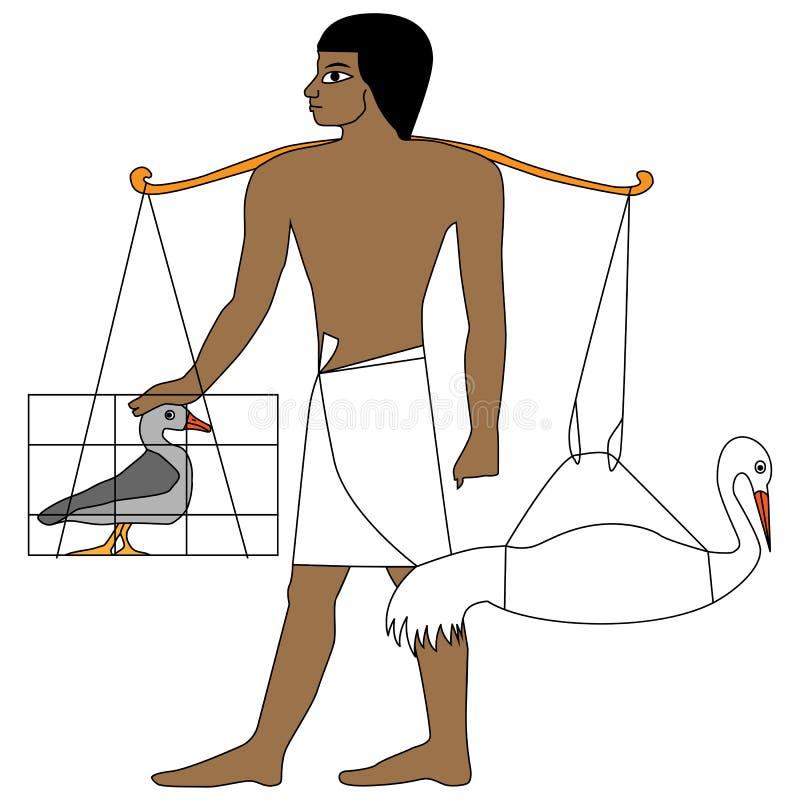 Antycznego Egipt rolnik royalty ilustracja