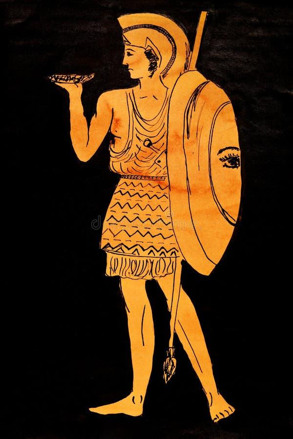 Antycznego Greece wojownik ilustracja wektor