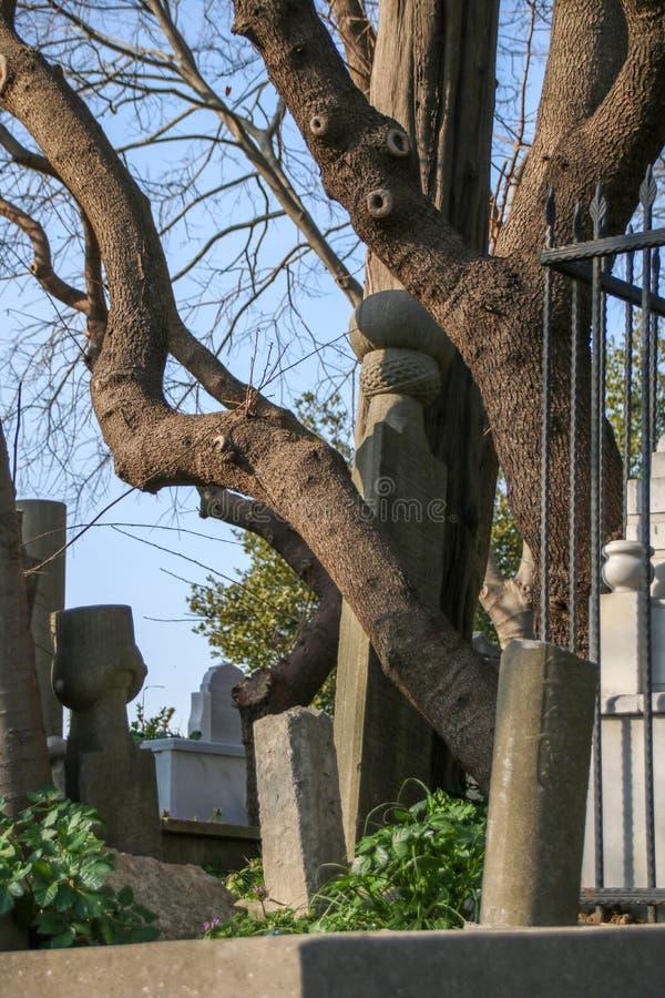 Antycznego grobowa kamień Osmański okres, Turcja obraz royalty free