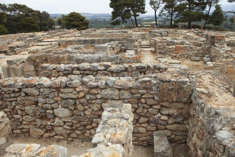 antycznego miasta minoan część phaistos fotografia royalty free