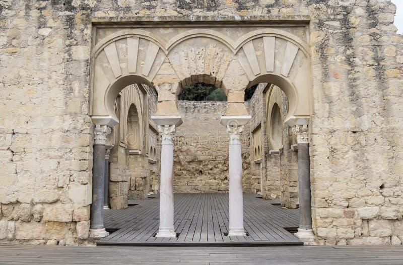 Antycznego miasta ruiny Medina Azahara, cordoba, Hiszpania zdjęcia stock