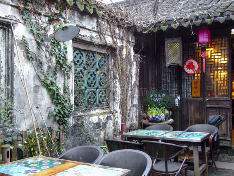 Antycznego miasteczka scenerii średniorolnego domu spotkania mała podwórzowa fotografia zdjęcie royalty free
