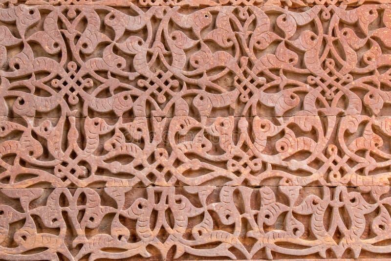 Antycznego qutub ściany minar wzór zdjęcie stock