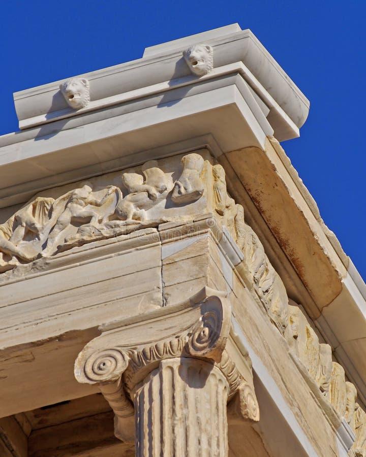 Antycznej świątyni architektoniczny szczegół fotografia royalty free