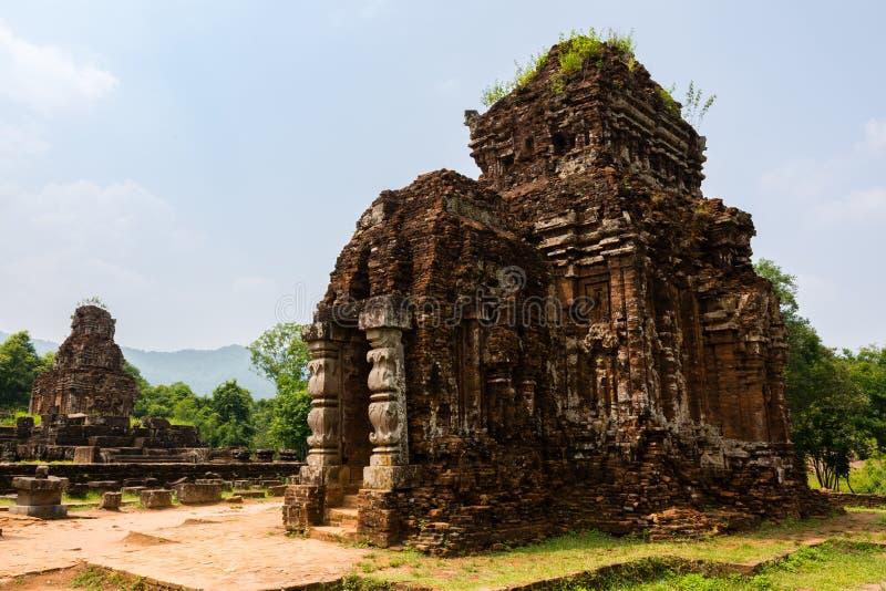 Antycznej świątyni kompleks w Mój synu zdjęcia stock
