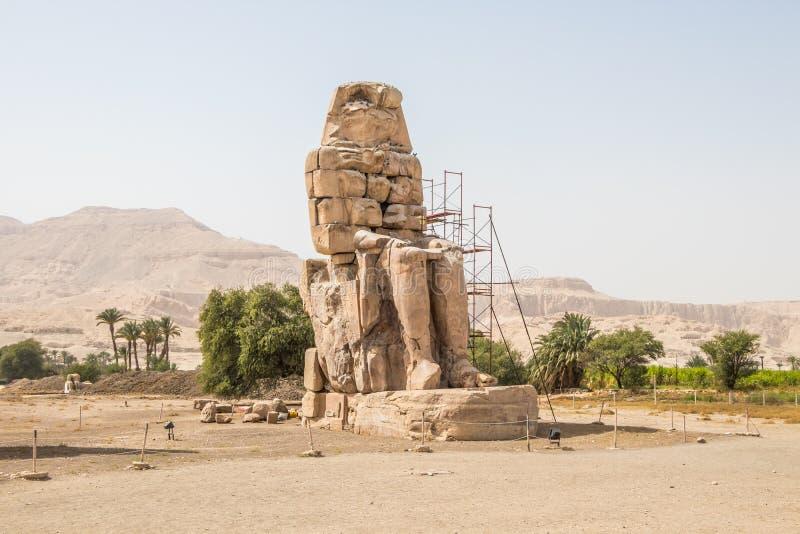 Antyczni Colossi Memnon w Luxor, Egipt zdjęcie stock