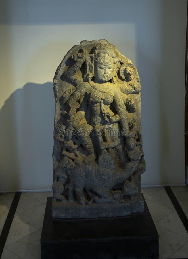 Antyczni cyzelowania na kamieniu przy miasto pałac, Udaipur, Rajasthan, India obraz royalty free