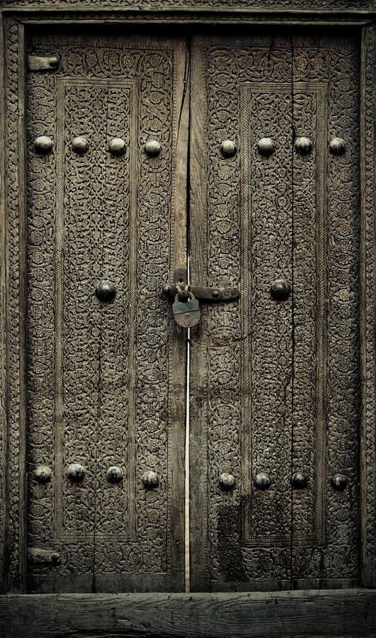 Antyczni drzwi Close-up wizerunek zdjęcia royalty free