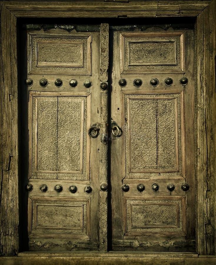 Antyczni drzwi Close-up wizerunek obraz stock