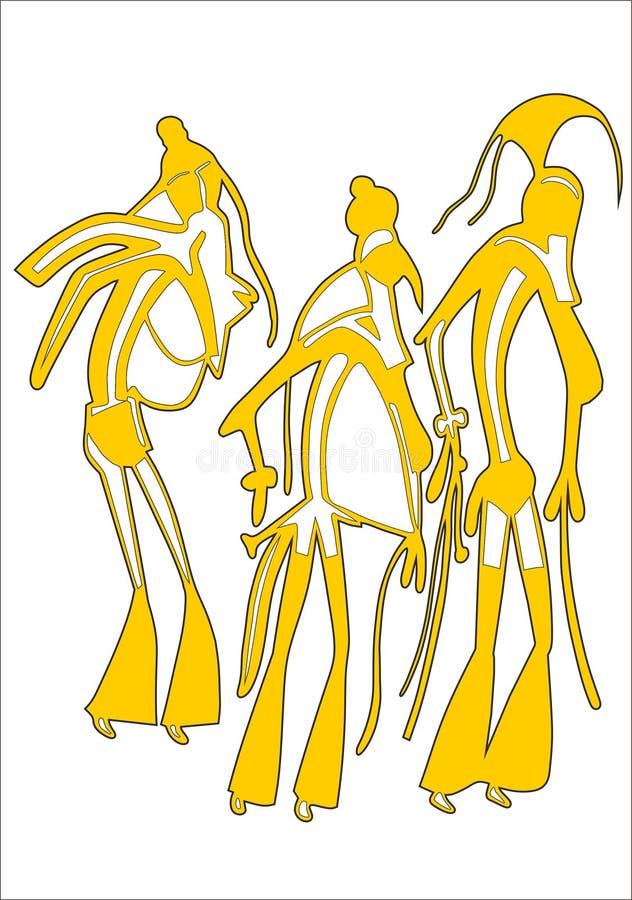 Antyczni egipcjanie ilustracja wektor