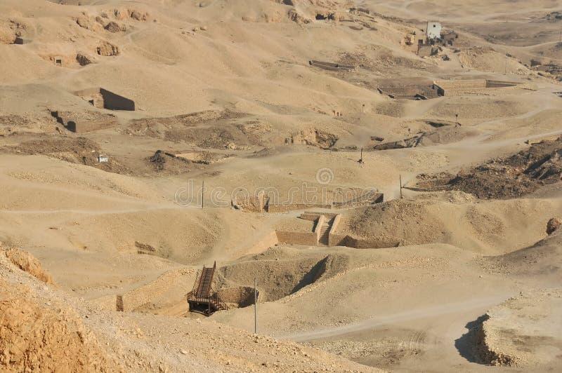 antyczni egipscy grobowowie zdjęcie royalty free