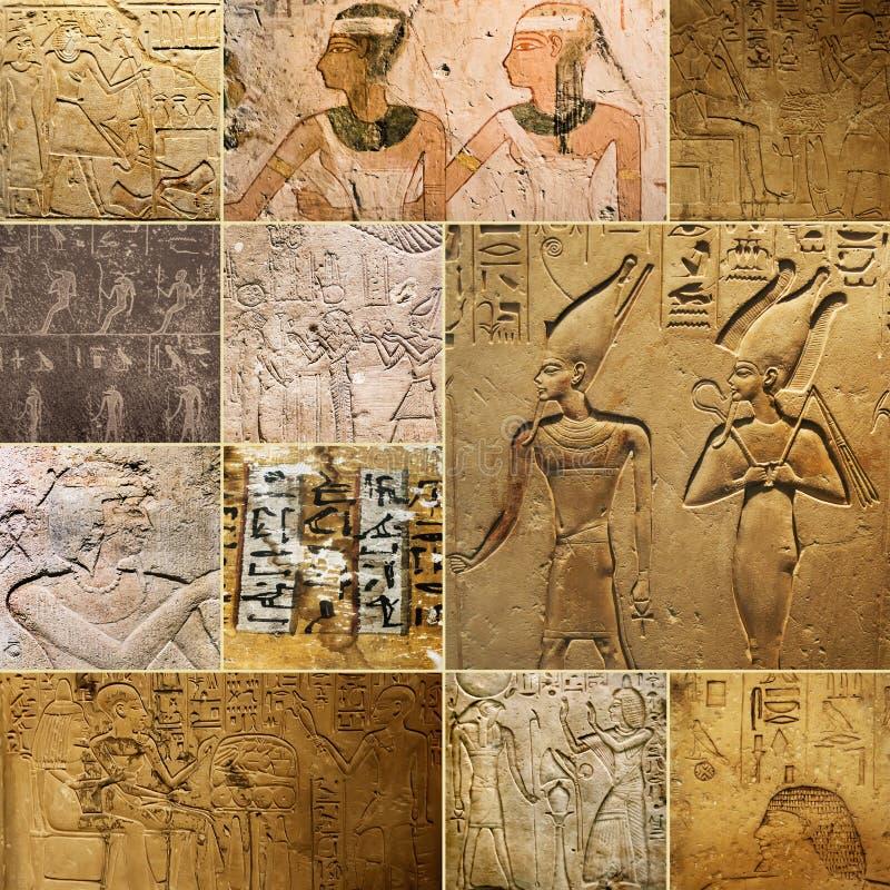 Antyczni Egipscy rysunki na skałach fotografia royalty free