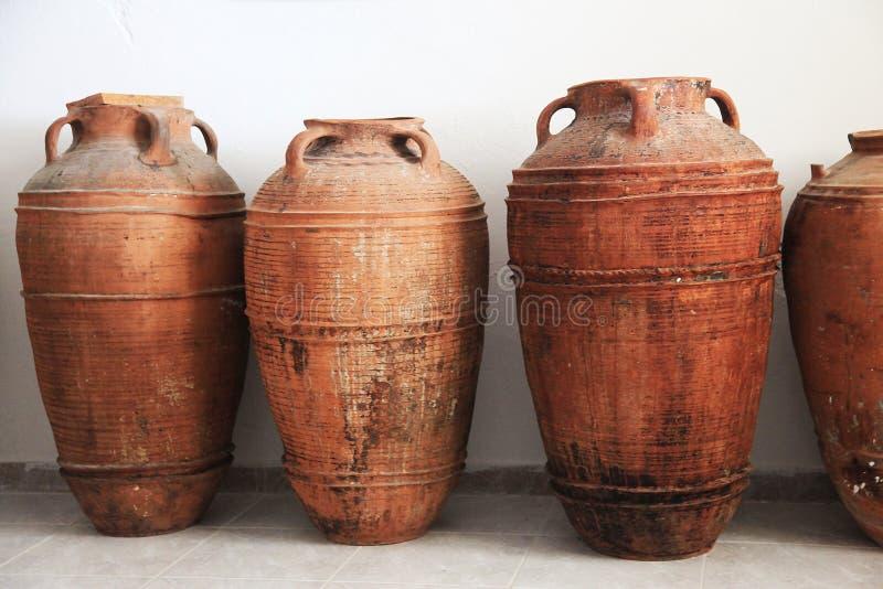 Antyczni gliniani amphorae obraz royalty free