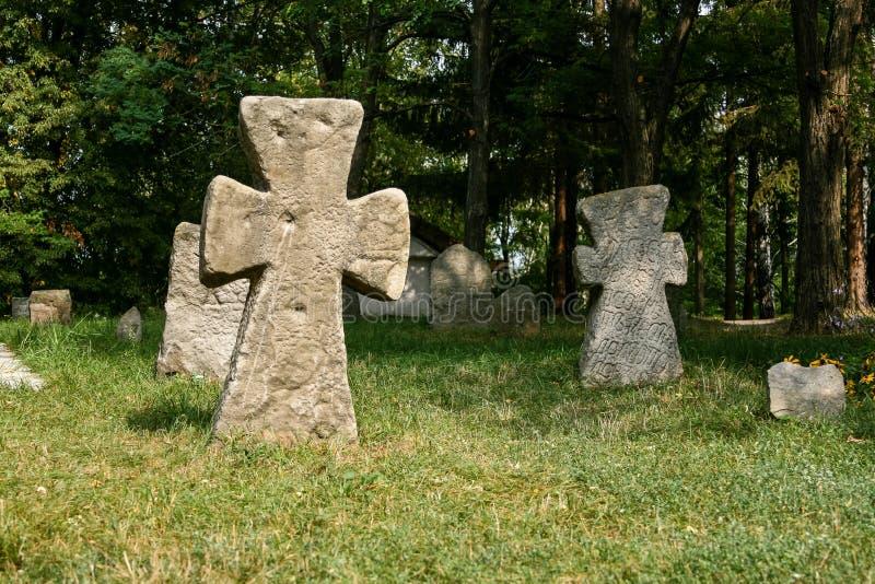 Antyczni kamieni krzyże obraz royalty free