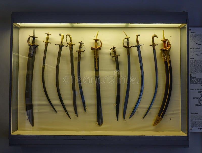 Antyczni kordziki przy Mehrangarh fortu muzeum zdjęcie royalty free