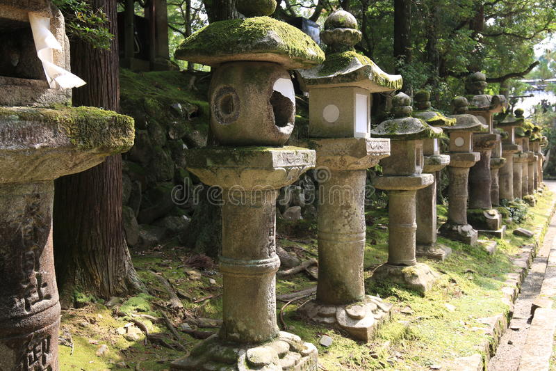 Antyczni Nara zabytki zdjęcia stock