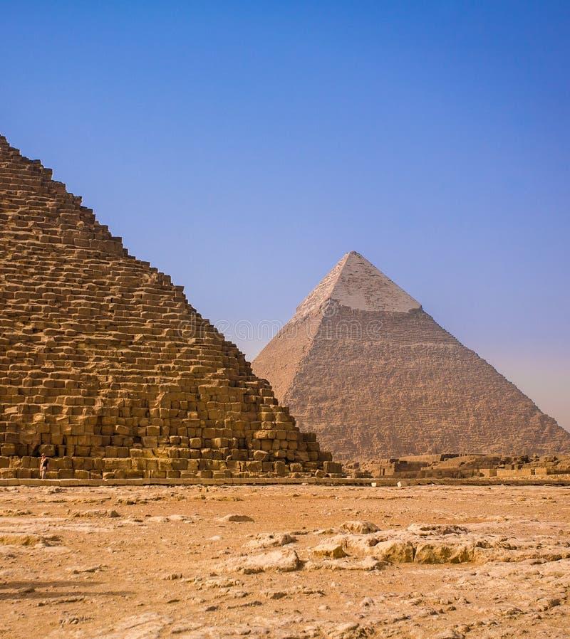 Antyczni ostrosłupy Giza zdjęcie royalty free
