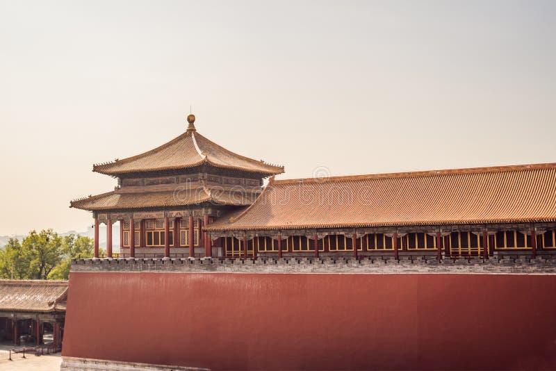 Antyczni pałac królewscy Niedozwolony miasto w Pekin, Chiny zdjęcie stock