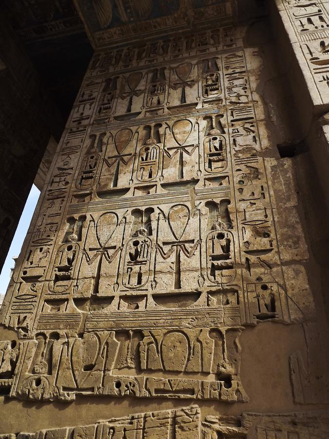 Antyczni symboli/lów hieroglyphics fotografia royalty free
