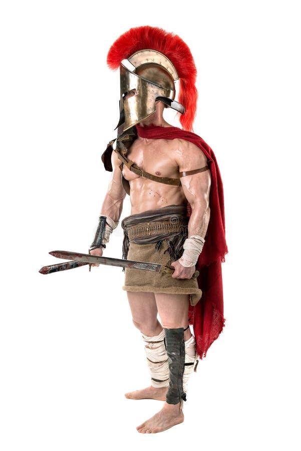 Antyczny żołnierz lub gladiator zdjęcie royalty free