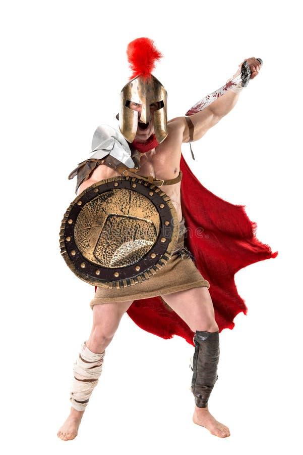 Antyczny żołnierz lub gladiator obraz royalty free