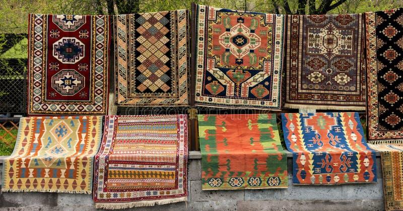 Antyczny Armeński dywanu wzór zdjęcia stock