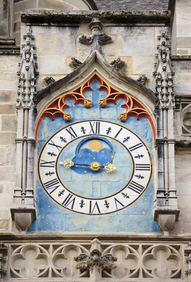Antyczny astronomiczny zegar, Autun katedra fotografia stock