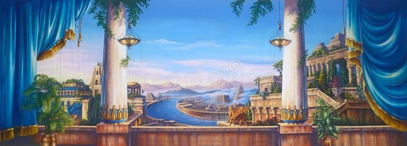 Antyczny Babylon ilustracji