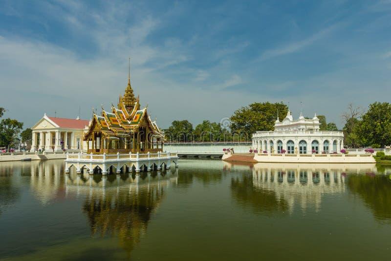Antyczny Bangpain pałac, Ayutthaya w Tajlandia zdjęcia royalty free