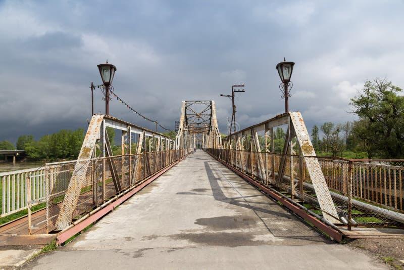 Antyczny bridger Miasto Galich Ukraina zdjęcia stock
