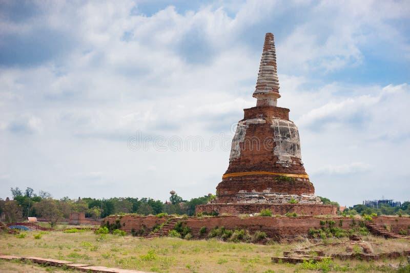 Antyczny budynek przy Ayutthaya światowego dziedzictwa miejscem, Tajlandia Tajlandia zna jako kraj uśmiech W lato czasie, interna zdjęcie royalty free