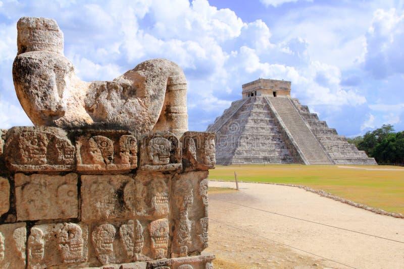antyczny chac chichen postać itza Mexico mool fotografia royalty free