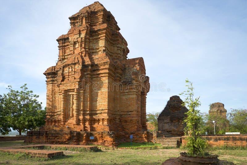 Antyczny Cham wierza blisko Phan Thiet obrazy royalty free
