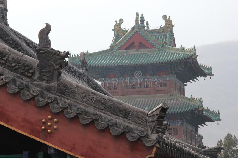 Antyczny Chiński budynku dach obraz royalty free