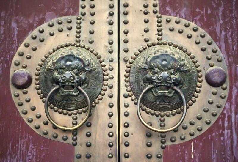 antyczny chiński drzwi zdjęcia stock