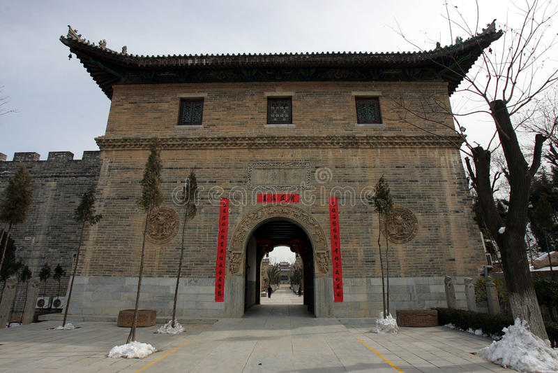 antyczny chiński miasteczko obrazy royalty free
