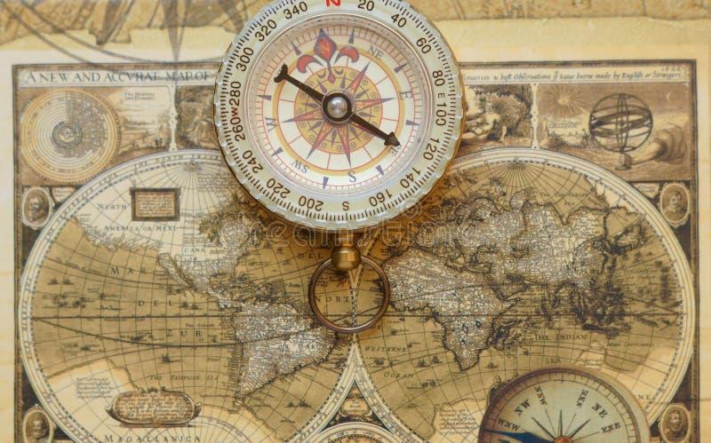 antyczny cyrklowej mapy stary rocznik zdjęcie stock