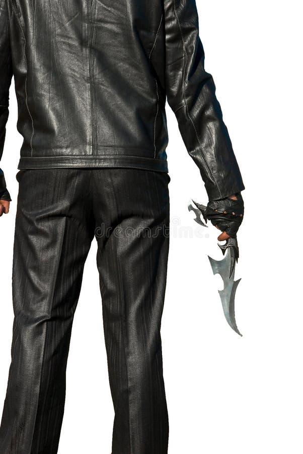 antyczny czarny nożowy mężczyzna obrazy royalty free