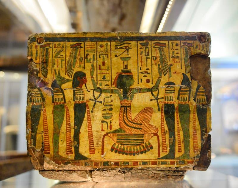 Antyczny Egipski artefakt w muzeum fotografia stock