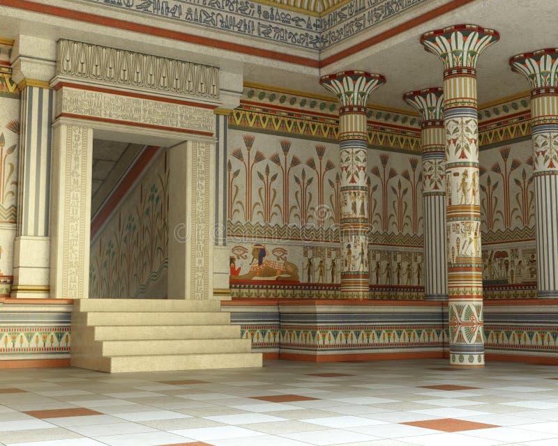 Antyczny Egipski grobowiec, ostrosłup, Egipt, wnętrze zdjęcia royalty free