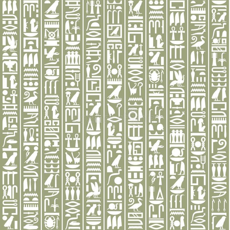 Antyczny Egipski hieroglificzny dekoracyjny tło ilustracja wektor