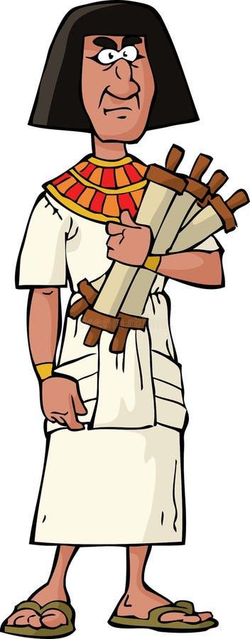 Antyczny Egipski urzędnik royalty ilustracja