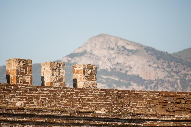 Antyczny forteca Sudak w Crimea zdjęcia royalty free