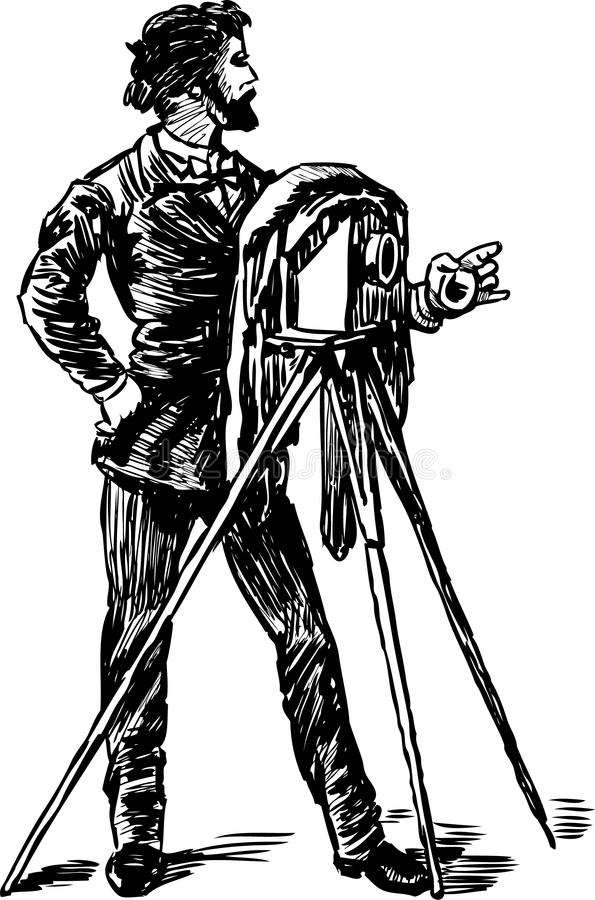 Antyczny fotograf royalty ilustracja