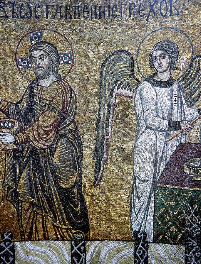 Antyczny frescoe w świętego Sophia katedrze, Kijów, Ukraina obraz royalty free