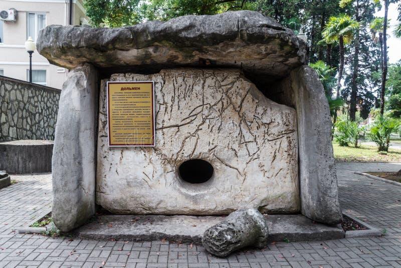Antyczny grobowiec o dziejowym muzeum w kapitale Abkhazia Su zdjęcia royalty free
