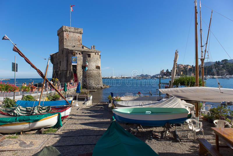 Antyczny grodowy Rapallo fotografia stock