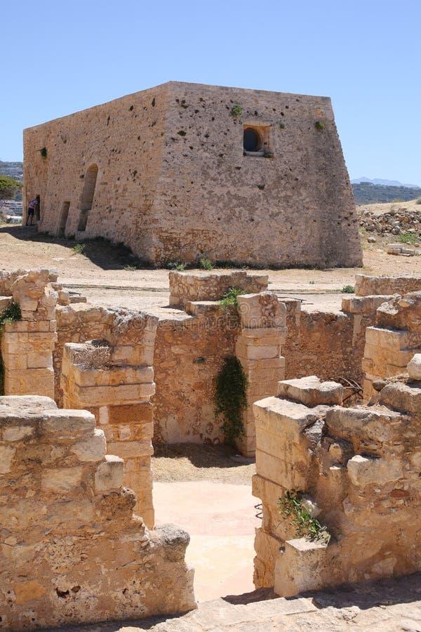 Antyczny Grodowy Rethymno na Crete wyspie, Grecja zdjęcia royalty free